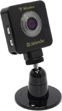 Сетевая интернет камера Defender WF-10HD  Black (802.11b / g, 1280x720, microSD, Li-Ion)  63902
