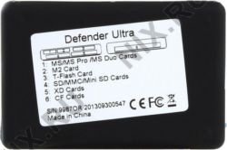 Картридер ext.  USB2.0 Defender Ultra 83500 (CF/MMC/RSMMC/SDHC/miniSDHC/SDXC/microSDHC/MS(PRO/Duo/M2