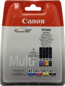К-ж(Чернильница) Canon CLI-451 C/M/Y/Bk MULTIPACK for PIXMA iP7240/MG5440/6340