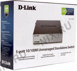 Сетевой Switch 10/100, 5-port D-Link DES-1005D/O2B (5UTP, 10/100Mbps)
