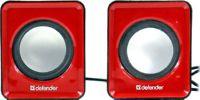 Колонки Defender SPK 22 (2x2.5W, красный,  питание  от USB)  65502