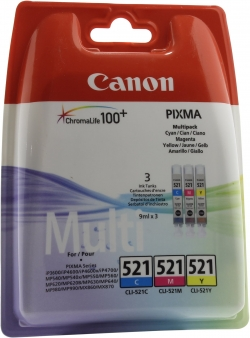К-ж(Чернильница) Canon CLI-521C/M/Y MULTIPACK для PIXMA iP3600/4600/MP540/620/630/980