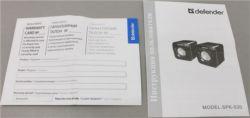 Колонки Defender SPK 530 Black (2x2W, питание  от USB)