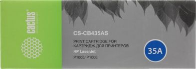 Картридж Cactus CS-CB435A (аналог hp CB435A) Black для hp LJ P1005,P1006