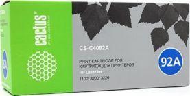 Картридж Cactus CS-C4092A (аналог hp C4092A) Black для hp LJ 1100/3200/3220