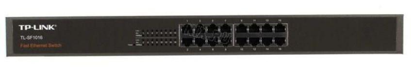 Сетевой Switch 10/100,16-port TP-LINK TL-SF1016 Неуправляемый коммутатор (16UTP 10/100Mbps)