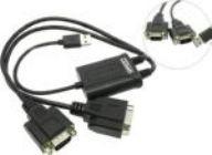 Конвертер (Кабель-адаптер) USB(A)->2xCOM9M STLab U-700 (RTL), 0.53 m