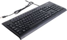 Клавиатура  A4Tech KD-800 Black USB 104КЛ+11КЛ Slim М/Мед.