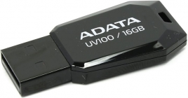 Модуль памяти Flash: USB2.0 Flash Drive 16Gb A-Data AUV100-16G-RBK, Черный
