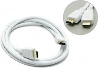 Кабель HDMI to HDMI (19M - 19M)  1.8м, AOpen/Qust ver1.4 ACG511W-1.8M белый, позолоченные контакты