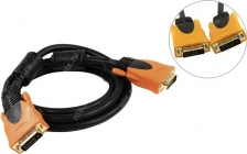 Кабель DVI-D to DVI-D (25M - 25M)  1.8м, 2 фильтра Dual Link  Aopen ACG446D-1.8M