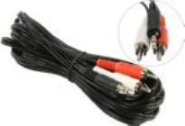 Аудиокабель 5bites AC35J2R-030M Jack3.5-M -- 2RCA-M  (3м)