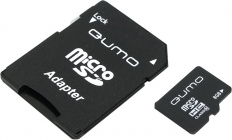 Модуль памяти Flash: microSDHC 8Gb Qumo QM8GMICSDHC10 Class10 (+SD adapter)