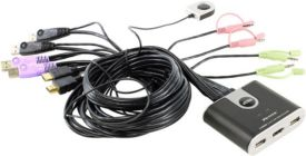 Перекл. сист.блоков автомат. ATEN CS692(B) 2-Port USB HDMI KVM Switch + кабели