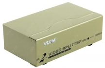 Разветвитель 2-port Video Splitter VDS8015 (VGA15M+2VGA15F)+б.п. VCOM