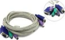 Набор кабелей TRENDnet TK-C10 (PS/2+PS/2+VGA15M, 3.0м) для KVM переключателей