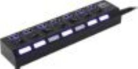 Концентратор USB-3.0 HUB 5bites HB37-303PBK 7-port +  б.п.