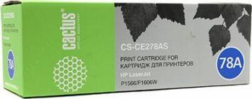 Картридж Cactus CS-CE278A (аналог hp CE278A) Black для LJ P1566/P1606w 2100 стр.