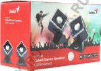 Колонки Genius SP-D120 2.0 black 2W USB
