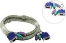 Набор кабелей TRENDnet TK-C15 (PS/2+PS/2+VGA15M, 5.0м) для KVM переключателей