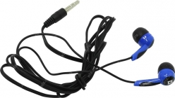 Наушники Defender Basic 604 черный + голубой (63608)