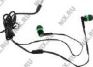 Наушники+микрофон Defender Pulse-420 Green  (шнур 1.2м)  63422