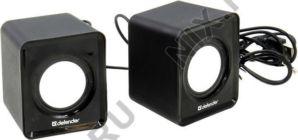 Колонки Defender SPK 22 (2x2.5W, черный, питание от  USB) 65503