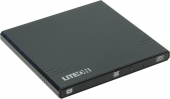 Привод USB2.0 EXT DVD RAM&DVDR/RW&CDRW LITE-ON eBAU108-01/11 (RTL) slim,черный