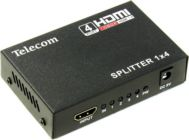 Разветвитель 4-port HDMI Splitter + б.п  Telecom TTS5020 (1in --> 4out)