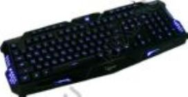 Клавиатура  Gembird Gaming KB-G11L USB 101КЛ+10КЛ М/Мед, подсветка клавиш