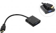 Конвертер HDMI (M) -- > VGA(15F)+аудио Orient  C100