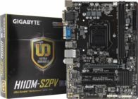 Мат.плата Soc-1151 GIGABYTE GA-H110M-S2PV rev1.0 (RTL) PCI-E Dsub+DVI GbLAN SATA MicroATX 2DDR4