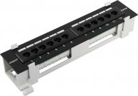 Сетевая патч панель UTP 12 port. кат.5e настенная Exegate EX256754RUS разъём KRONE&110 (dual  IDC)