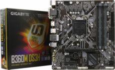 Мат.плата Soc-1151 GIGABYTE B360M DS3H (RTL) PCI-E Dsub+DVI+HDMI GbLAN SATA MicroATX 4DDR4