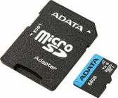 Модуль памяти Flash: SDXC-micro 64GB ADATA Premier AUSDX64GUICL10A1-RA1 UHS-I U1 + SD Adapter