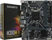 Мат.плата Soc-1151 GIGABYTE H310M H 2.0 (RTL) PCI-E Dsub+HDMI GbLAN SATA MicroATX 2DDR4