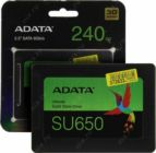 "Жесткий диск 2,5"" SSD SATA-III 240 Gb ADATA Ultimate SU650 ASU650SS-240GT-R 3D TLC"
