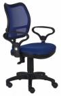 Кресло CH-799/BL/TW-10 (спинка синяя сетка , сиденье синее TW-10,нагрузка до 120 кг.)